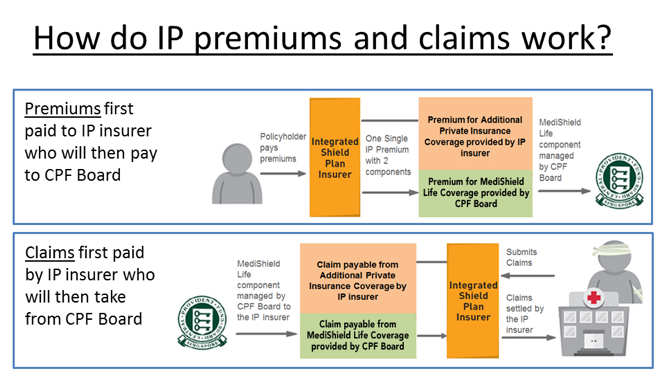 How do IP Premiums and Claims Work