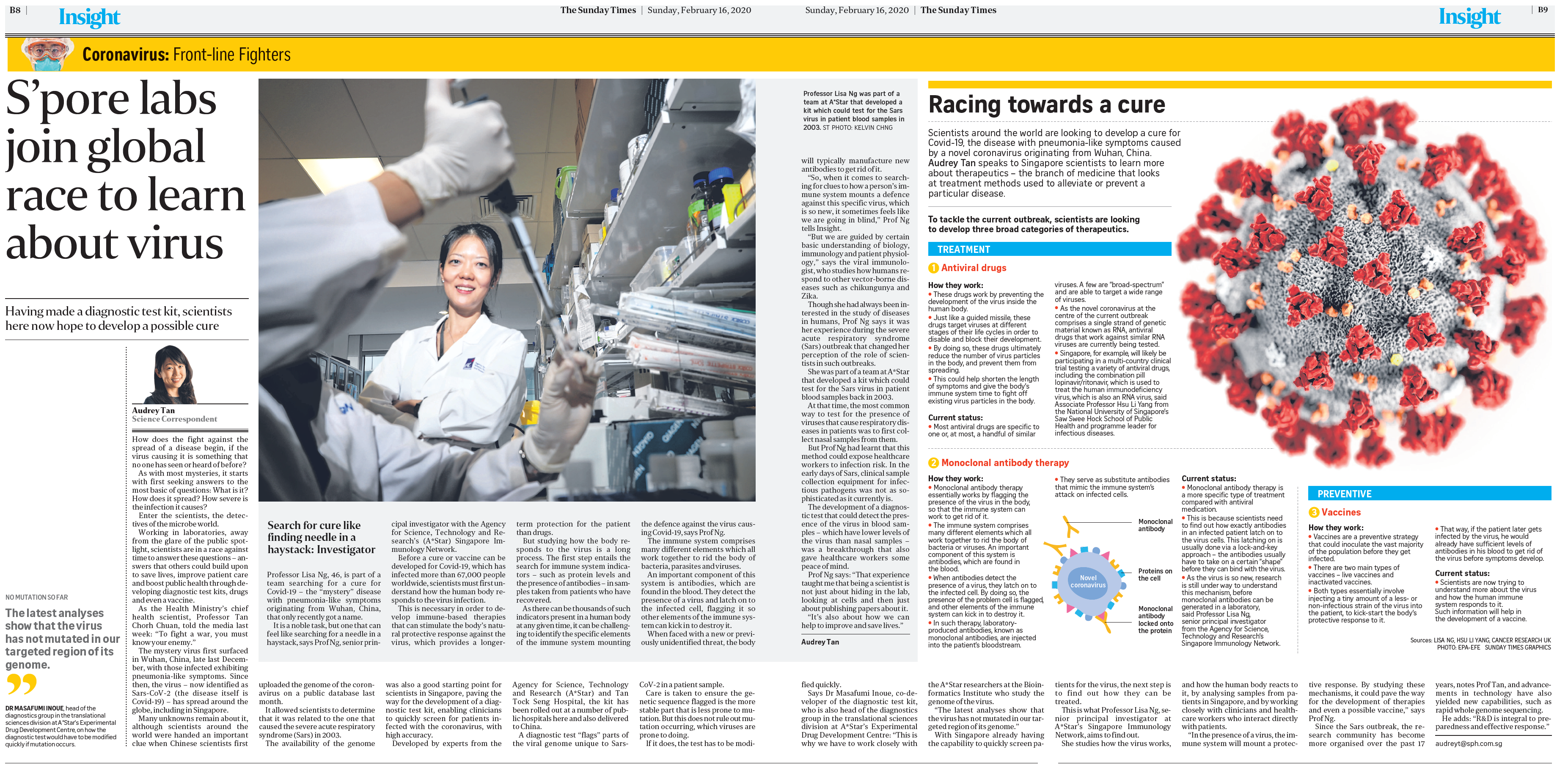 S'pore labs join global race to learn about virus (The Sunday Times, 16 Feb 2020, pB8-9)