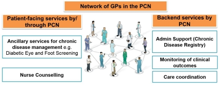 Framework of Primary Care Networks (PCNs) class=